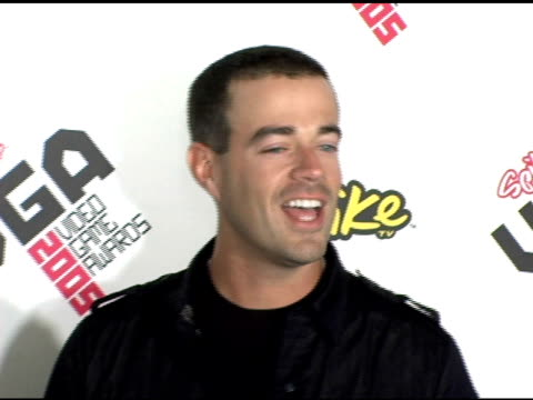 Carson Daly at the Spike TV Video Game Awards at the Gibson Amphitheatre in Los Angeles California on November 18 2005