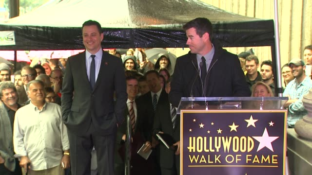 SPEECH Carson Daly on his good friend Jimmy Kimmel at Jimmy Kimmel Honored with Star on the Hollywood Walk of Fame in Hollywood CA on 1/25/13