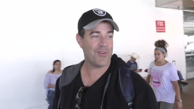 INTERVIEW Carson Daly on quitting radio at Los Angeles International Airport at Celebrity Sightings in Los Angeles on July 28 2017 in Los Angeles...