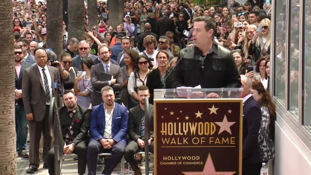 SPEECH Carson Daly on the legacy of NSYNC at the *NSYNC Honored with a Star on the Hollywood Walk of Fame on April 30 2018 in Hollywood California
