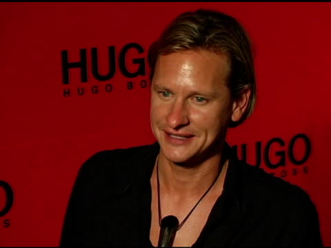 carson kressley at the return of the hugo boss roof deck presented by hugo hugo boss with djs tommy lee and grand master flash at hugo boss roof in... - hugo boss stock videos & royalty-free footage
