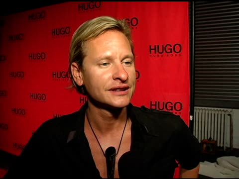"""carson kressley on hugo boss's style, on his recent project """"the perfect man,"""" and on wearing hugo boss in the film at the return of the hugo boss... - hugo boss stock videos & royalty-free footage"""
