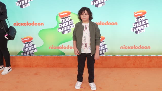 carson white at the nickelodeon's 2019 kids' choice awards at galen center on march 23, 2019 in los angeles, california. - nickelodeon stock videos & royalty-free footage