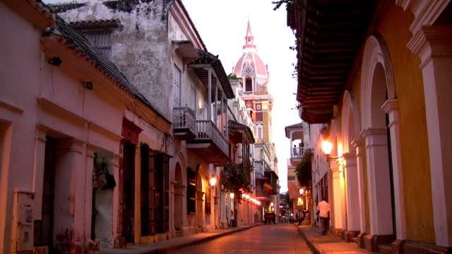 hd: cartagena city street - colombia stock videos & royalty-free footage
