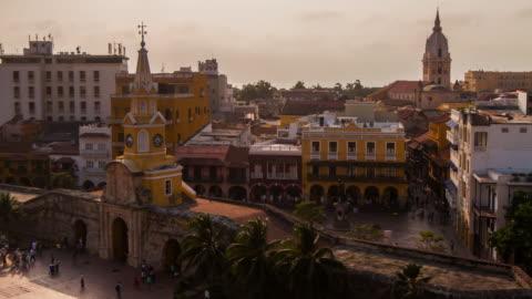 cartagena de indias old quarter - colombia stock videos & royalty-free footage