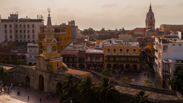 cartagena de indias old quarter - colombia stock videos & royalty-free footage