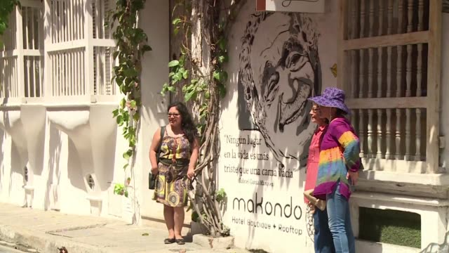 Cartagena the jewel of colonial architecture on Colombias Caribbean coast prepares Sunday to receive the ashes of Gabriel Garcia Marquez to be kept...