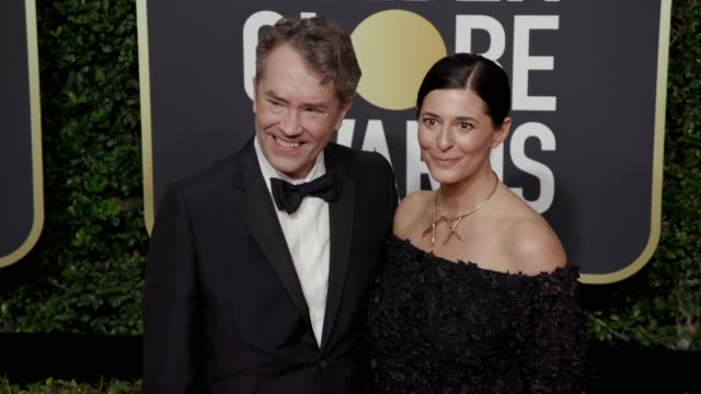 Carter Burwell and Christine Sciulli at the 75th Annual Golden Globe Awards at The Beverly Hilton Hotel on January 07 2018 in Beverly Hills California