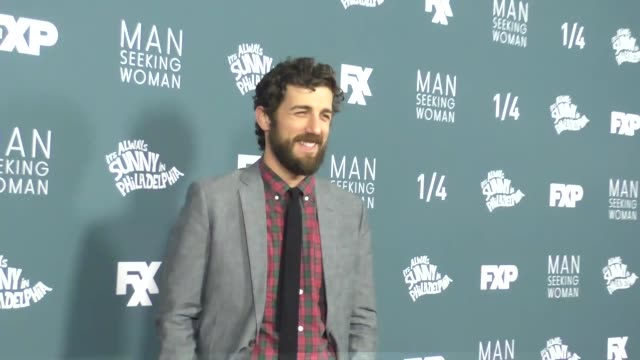 """carter hudson at the """"it's always sunny in philadelphia"""" and """"man seeking woman"""" season premiere on january 03, 2017 in westwood, california. - sunny video stock e b–roll"""
