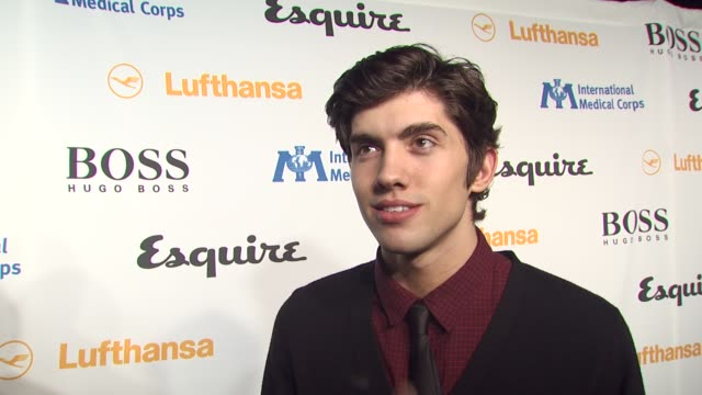 carter jenkins on tonight's event, on the esquire house, and on what every bachelor pad should have at the esquire celebrates the grand opening of... - 独身男性点の映像素材/bロール