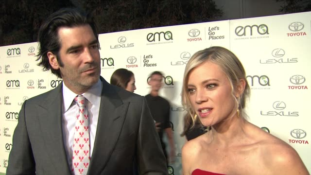 INTERVIEW Carter Oosterhouse Amy Smart on why it was important for them to be here tonight Joke that their passion for the environment is what...