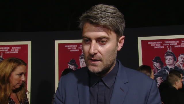 """interview carthew neal on the production at the """"jojo rabbit"""" los angeles premiere presented by fox searchlight pictures in los angeles ca - fox searchlight pictures stock videos & royalty-free footage"""