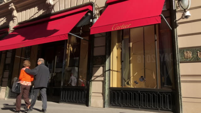 cartier, a french luxury jewelry and watches. - fifth avenue stock videos & royalty-free footage