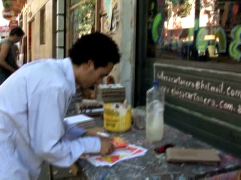 cartoneros make their living by gathering cardboard boxes in the streets and selling them. buenos aires, argentina - buenos aires province stock videos & royalty-free footage