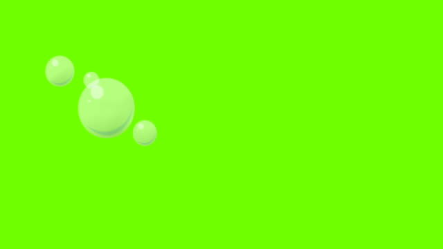 cartoon bubble on greenscreen - aquatic organism stock videos & royalty-free footage