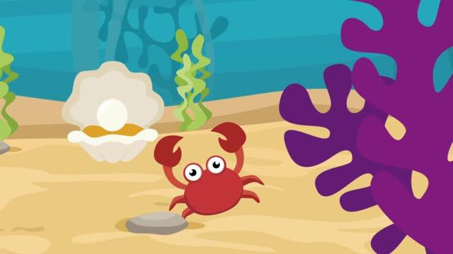 cartoon crab - crab stock videos & royalty-free footage
