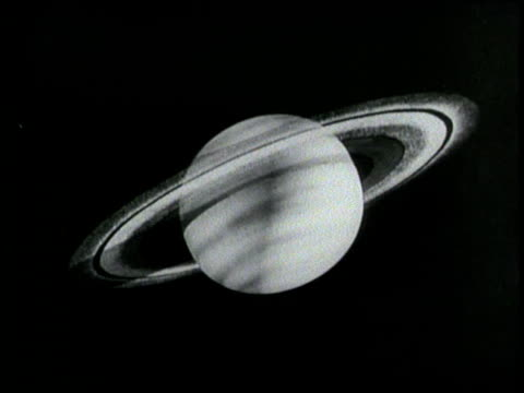 a cartoon depicts saturn's position in space - 1964 stock-videos und b-roll-filmmaterial