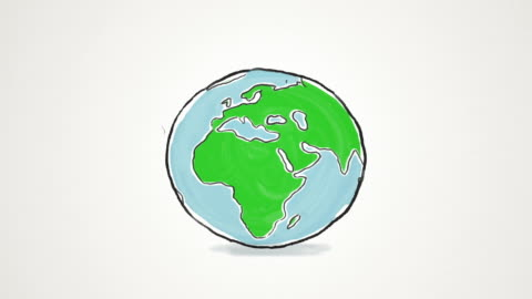 cartoon earth globe spinning and jumping - spinning stock videos & royalty-free footage
