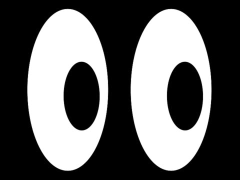 cartoon eyes (pal 25p) - cartoon p stock videos & royalty-free footage