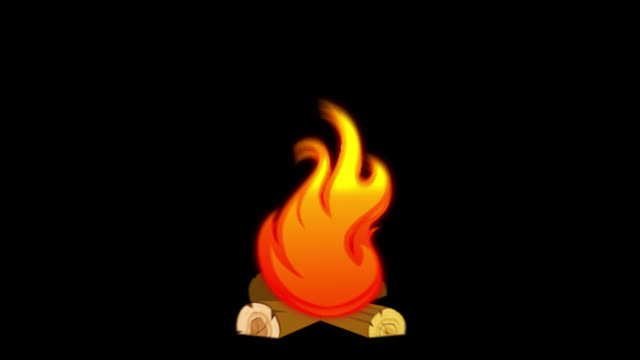 cartoon fire explosion - animation of fire burning - (apple prores 444 alpha channel included) - infinite loop - warming up stock videos & royalty-free footage