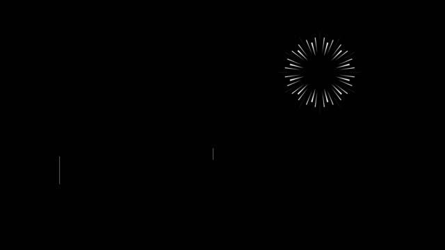 4k漫画花火アニメーション - ブラック背景|ループ可能 - firework display点の映像素材/bロール
