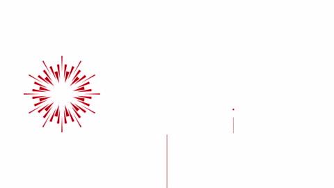vídeos y material grabado en eventos de stock de animación de fuegos artificiales de dibujos animados 4k ? loopable - fuegos artificiales