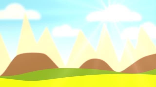vídeos y material grabado en eventos de stock de panorama de dibujos animados - niñez