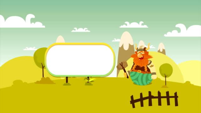 cartoon logo opening - scandinavian culture stock videos and b-roll footage