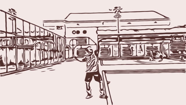 cartoon male tennis doubles players playing tennis - forehand stock videos & royalty-free footage
