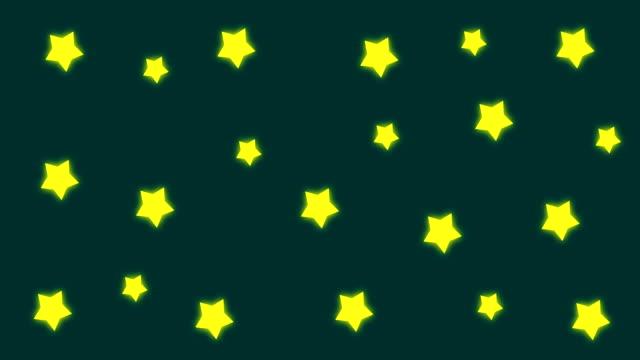 4k cartoon stars background |loopable - star shape stock videos & royalty-free footage