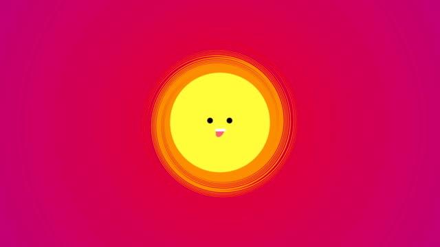 4k cartoon sun|loopable - illustration stock videos & royalty-free footage