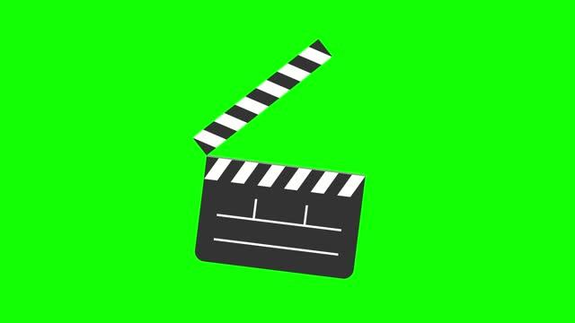 cartoon timecode film slate, clapper board animation - 片頭部分 個影片檔及 b 捲影像