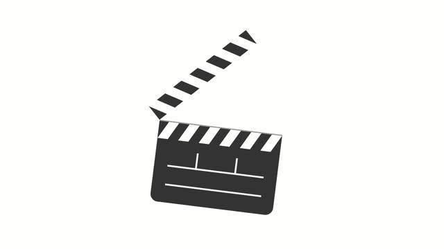 vidéos et rushes de ardoise de film de timecode de dessin animé, animation de tableau de claquettes - clap de cinéma
