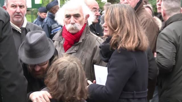 cartoonist georges wolinski 80 was laid to rest in a private family funeral after he was gunned down by two islamist brothers in last weeks attack on... - cartoonist stock videos & royalty-free footage