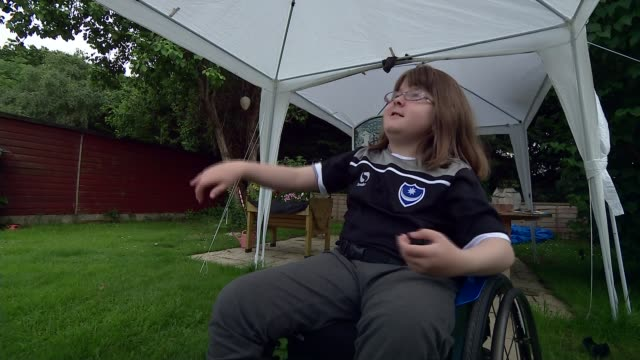 cartoonist inspired by daughter with spina bifida creates comic strip where disabled superheroes save the world; england: hampshire: int dan white... - cartoonist stock videos & royalty-free footage
