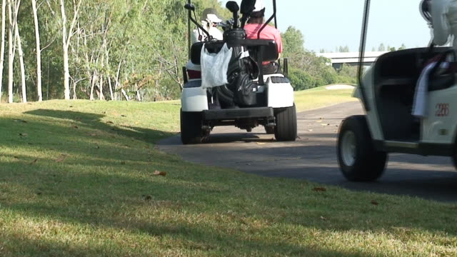 carts - golf cart stock videos and b-roll footage