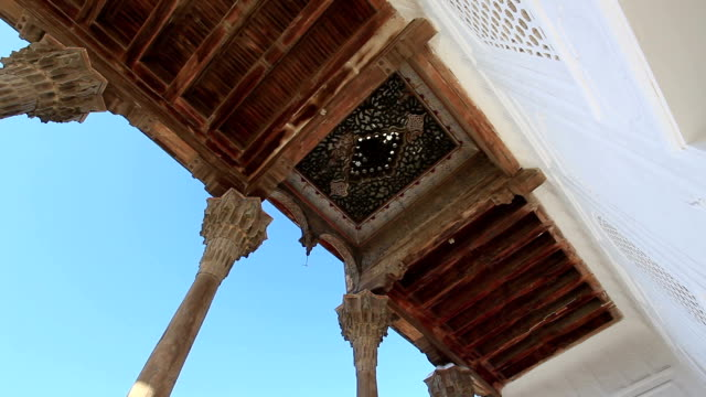 carved wooden columns. - bukhara stock videos and b-roll footage