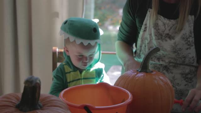 Carving Halloween Pumpkins - 4K