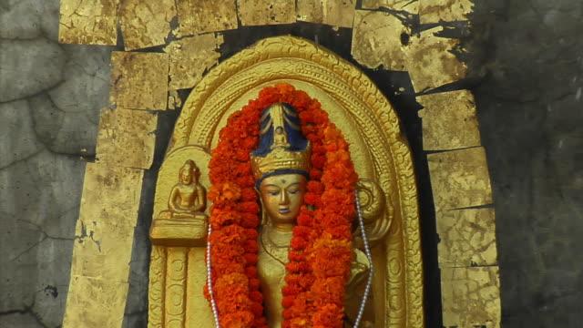 Cu Zo Carving On Mahabodhi Temple Bodh Gaya Bihar India Stock
