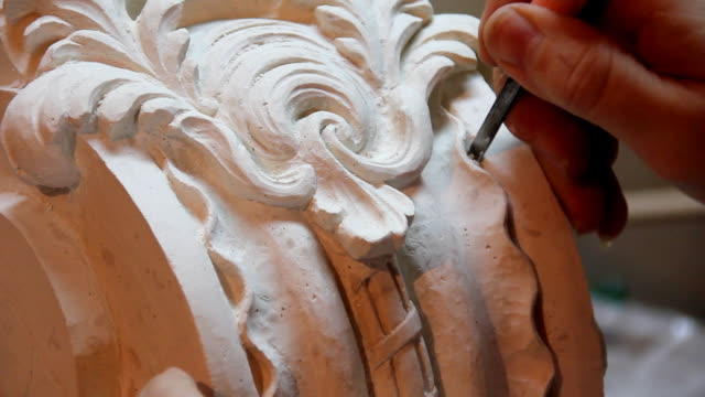 carving (hd) - stone material stock videos & royalty-free footage