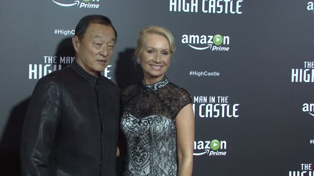 caryhiroyuki tagawa and deidre madsen at the man in the high castle new york series premiere at alice tully hall on november 02 2015 in new york city - deidre hall stock videos and b-roll footage