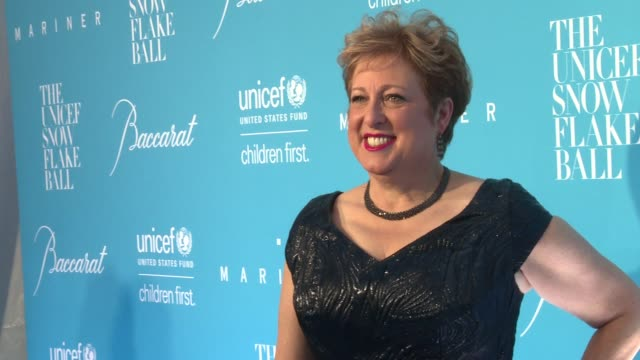 caryl stern at 12th annual unicef snowflake ball at cipriani wall street on november 29 2016 in new york city - cipriani manhattan stock videos & royalty-free footage