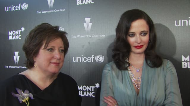 Caryl Stern Eva Green on their relationships with Montblanc what Montblanc's contribution to UNICEF means to Caryl how active Eva is in her cultural...