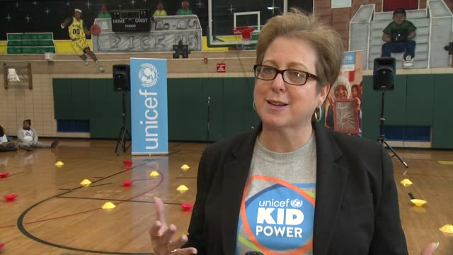 INTERVIEW Caryl Stern says this program is about kids helping kids how this is teaching the kids life skills explains what the program in New York is...