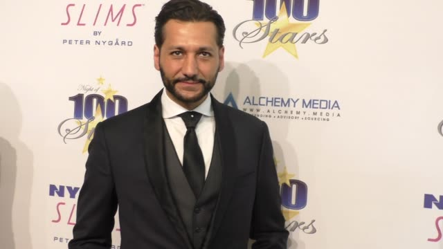 cas anvar at norby walters' 26th annual night of 100 stars oscar viewing at the beverly hilton hotel in beverly hills in celebrity sightings in los... - the beverly hilton hotel stock videos & royalty-free footage