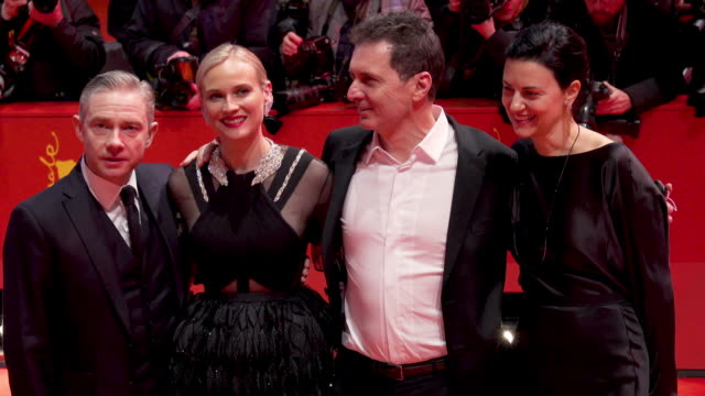 vídeos y material grabado en eventos de stock de cas anvar martin freeman diane kruger yuval adler aglika dotcheva at 'the operative' premiere 69th berlin film festival on february 10 2019 in berlin... - martin freeman