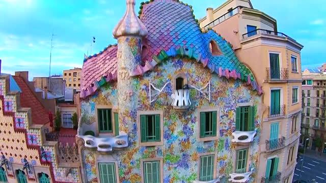 casa batllo / barcelona, spain - spain stock videos & royalty-free footage