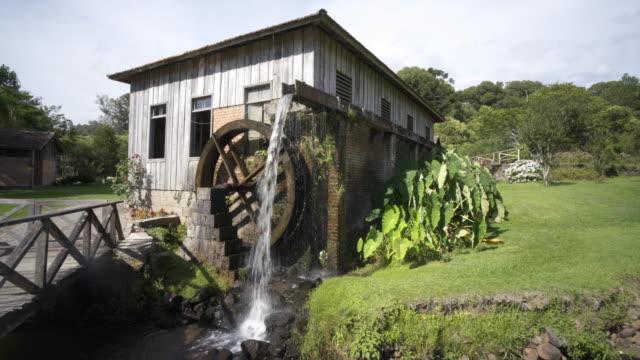 casa da erva-mate, near nova roma do sul, rio grande do sul, brazil - stato di rio grande do sul video stock e b–roll