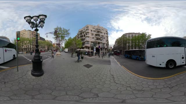 Casa Mila La Pedrera 360 degree video. VR equirectangular panorama of this building by Gaudi. Paseo de Gracia
