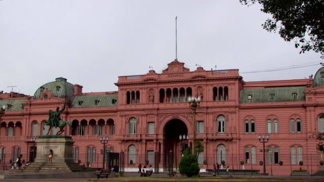 casa rosada - buenos aires, argentina - buenos aires stock videos and b-roll footage